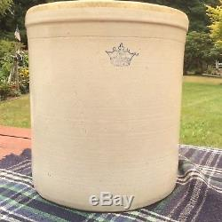 10 Gallon Antique Stoneware Crock zinc glazed Minor Hairline Crack No Leaks