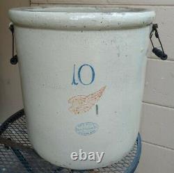10 gallon Red Wing Union Stoneware Co. Crock Vintage Antique Large