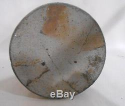 1800's Cobalt Decorated Stoneware 1 Qt. Jar Floral Band