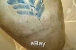 1860s 90s Era Colbalt Blue Stoneware Salt Glaze 6 Gallon Butter Churn Crock