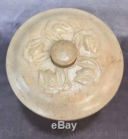 1861-1881 E & L P NORTON BENNINGTON VT Cobalt Salt Glazed Stoneware Crock & Lid