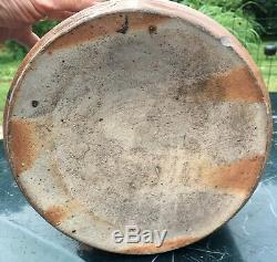 1866 1871 Seymour Brothers Hartford CT Cobalt Deco 3 Gal. Stoneware Crock