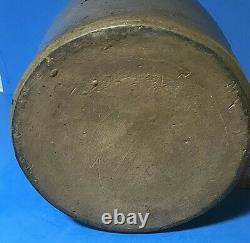 1880's Hamilton and Jones Stoneware Crock Jar, Greensboro, PA. 1/2 Moon Stencil