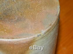 19th C 6.25 Striper Stoneware Wax Sealer Crock 4 Stripes Western PA AAFA
