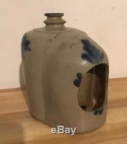 19th C. Antique Good PA Stoneware Blue Decorated Canning Jar Nice Decoration