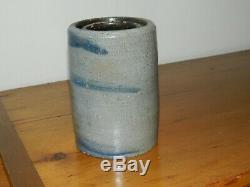 19th C PA 6.25 Stoneware Crock Wax Sealer Canning Jar 3 Stripes Striper AAFA