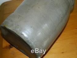 19th C Western PA Striper Stoneware Crock Four Stripes 9.5 AAFA