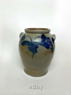 19th Century American Stoneware Jar Strong Decoration Probably from Philadelphia