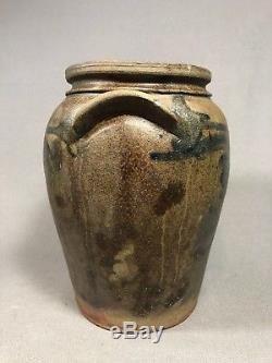 19th Century Virginia Decorated Salt Glaze Stoneware Jar