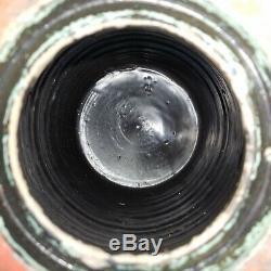 1 Gallon Cobalt Blue Wavy Stripe Stoneware Crock Striper Canning Jar Wax Sealer