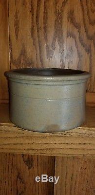 1 Gallon Cobalt Decorated 3 Stripe Pennsylvania Stoneware Butter Crock