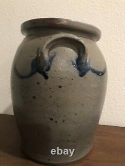 1-gallon Salt-Glazed Stoneware 2-Handled Crock Pot, No Leaking Or Dripping