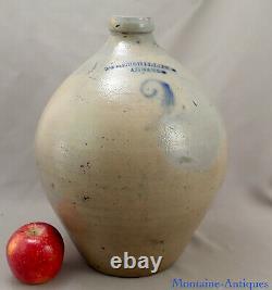 2 Gallon Albany NY Ovoid Stoneware jug c. 1830