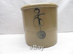 2 Gallon Antique Stoneware Crock Bee Sting Twisted Design Double P Target