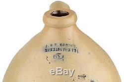 2 Gallon Stoneware Jug J. & E. Norton, Bennington, VT Excellent Condition