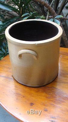 2 gallon 19th century saltglaze stoneware crock w cobalt, excellent cond