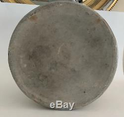 3 Gallon Athen, NY Blue Decorated Stoneware Crock Dated 1893