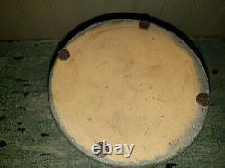 4 Stripe Southwestern Pennsylvania Salt Glazed Stoneware Crock Wax Sealer