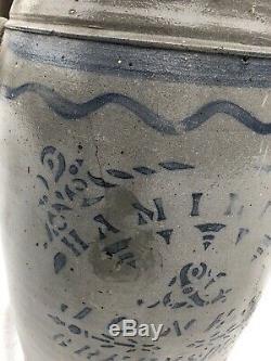 5 Gallon Hamilton & Jones Stoneware Jar
