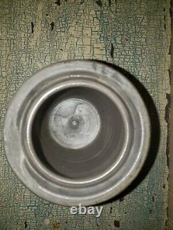 6 3/4 Pa Striper Crock Primitive A Small Size Salt Glaze Stoneware