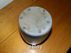 6.5 Western PA Stoneware Canning Wax Sealer Striper Stripe Crock 1 Quart AAFA