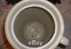 6 gallon Glazed WD Suggs Stoneware Butter Churn Crock Smithville, MS pottery