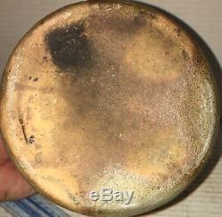 ANTIQUE AP Donaghho STONEWARE Parkersburg WV Crock Canning Jar COBALT BLUE