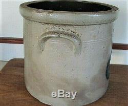 ANTIQUE FRANK B NORTON WORCESTER MA 2 Gal CROCK Stoneware Cobalt Blue Salt Glaze