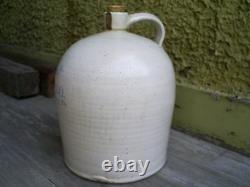 ANTIQUE H. P. CO Hawthorn PA Stoneware 2 gal. Jug Pottery Blue Stenciling
