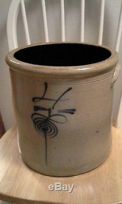 ANTIQUE RED WING STONEWARE 4 GALLON BEE STING CROCK With HANDLES EXCELLENT