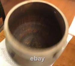 A&E Smith & Sons 1849-1865 3 Gallon Open Salt Glaze Stoneware Crock Cobalt Deco
