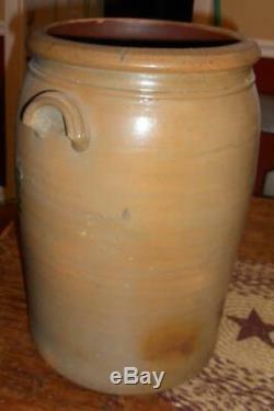 A. P. Donaghho 4 Gallon Double Zipper Stoneware Crock Parkersburg WV