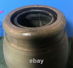 A. P. Donaghho, Parkersburg, W Va Stoneware Wax Sealer Canning Jar 8 1/2 tall