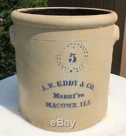 A. W. Eddy Macomb Illinois Advertising Crock Stoneware
