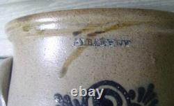 Albany, N. Y. Blue Decorated Antique Stoneware, 1 Gall. Ovoid Crock, #16608