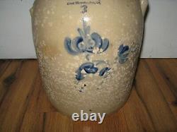 Antique 1800s 3 Gallon Blue Stoneware Norton Fenton Bennington VT Crock Jar Jug