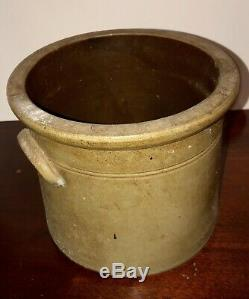Antique 1800s Stoneware Salt Glaze Jug Crock E. & L. P Norton Bennington VT Flower