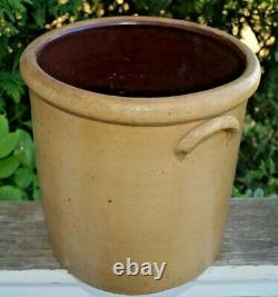 Antique 1870s 1890s Red Wing Salt Glaze Stoneware 3 Gal SINGLE P Crock Churn