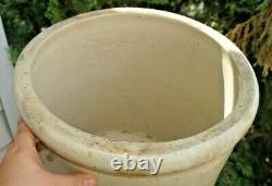 Antique 1910s Red Wing Pottery Stoneware 10 Gal Drain Crock Jug Churn UNUSUAL