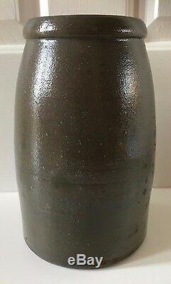Antique 19th C Stoneware Decorated Hamilton Jones Pennsylvania Canning Jar Crock