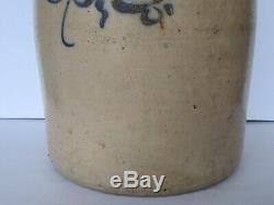 Antique 19th Century 3 Gallon JA & CW Underwood Fort Edward, NY Stoneware Jug