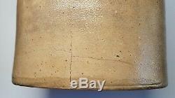 Antique 19th Century 6 Gallon Salt Glazed Stoneware Handled Crock J. PECH & SONS