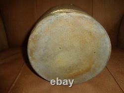 Antique 1 Gallon M. Woodruf Cortland, N. Y. Cobalt Blue Stoneware Pottery Jug, j1