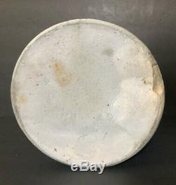 Antique 2 Gal. Stoneware Salt Glazed Whiskey Jug Crock Blue Cobalt Bird New York