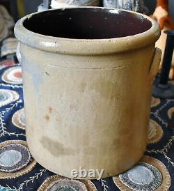 Antique 2 Gallon Stoneware Crock with Cobalt