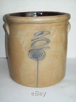Antique #3 Bee Sting Stoneware Crock Salt Glazed Pottery Red Wing