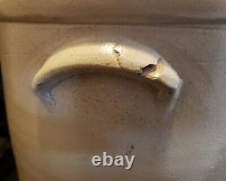 Antique 3 Gal. Red Wing Cobalt Bee Sting Stoneware Crock Salt Glazed Ear Handles