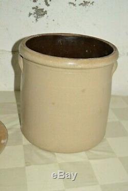 Antique 3 Gallon Cobalt Bee Sting Salt Glazed Stoneware Crock