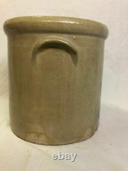 Antique 3 Gallon New Brighton Pennsylvania Styled Salt Glazed Stoneware Crock