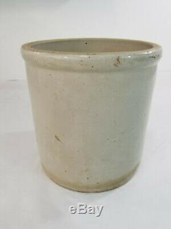 Antique 3 Gallon Red Wing Union Stoneware Co Crock Jar With Floral Image Lid 3